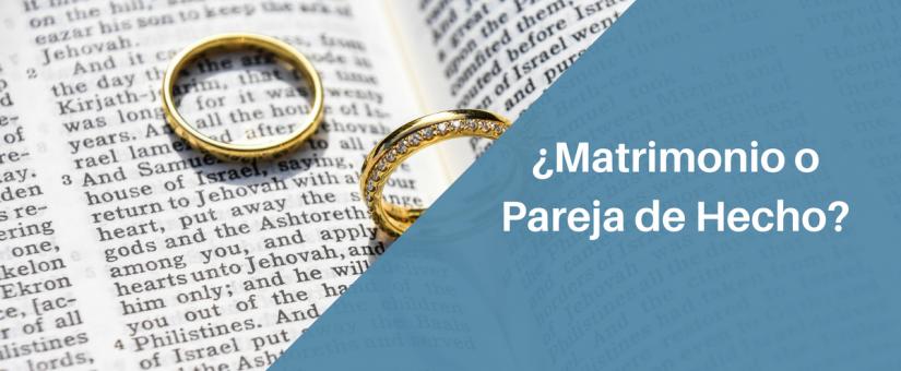 Principales diferencias entre tener una pareja de hecho y casarse