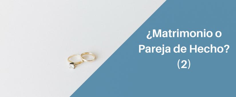 Más diferencias entre tener una pareja de hecho y casarse