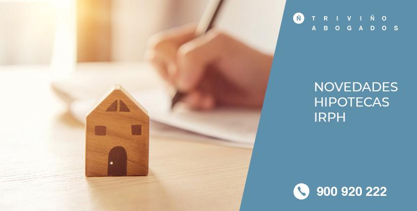Novedades Hipotecas IRPH